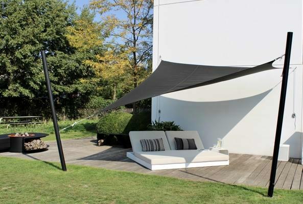 Ingenua voile d'ombrage ǀ Triangulaire ǀ 3 x 3 x 3 m ǀ Black