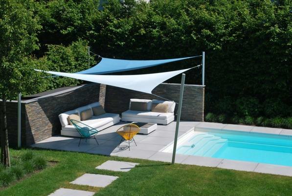 Ingenua voile d'ombrage ǀ Triangulaire ǀ 6 x 5 x 4 m ǀ Natural & Adriatic