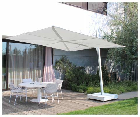 Spectra UX parasol déporté  ǀ  Architecture  ǀ  3 m carré  ǀ toile en Sunbrella Marble.