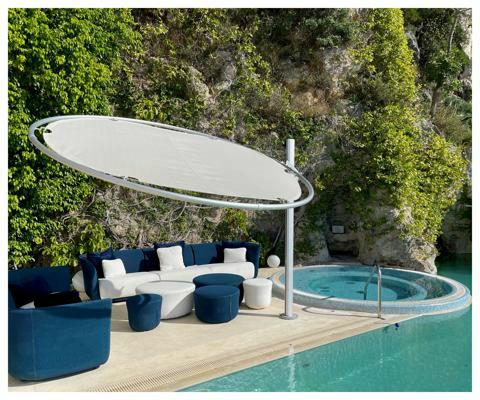 Umbrosa Eclipsum design umbrella ǀ Solidum Natural ǀ 3 m round