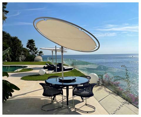 Umbrosa Eclipsum design umbrella ǀ Canvas ǀ 3 m round
