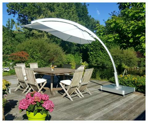 Umbrosa Icarus ombrellone design ǀ Natural
