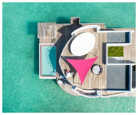 Umbrosa Ingenua shade  sails ǀ Pink ǀ Triangle ǀ 3 x 3 x 3m