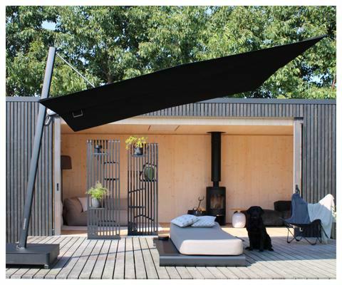 Umbrosa Spectra UX Full Black ǀ Sunbrella Black ǀ 3 x 3 m ǀ frame powder coated Black RAL 9005