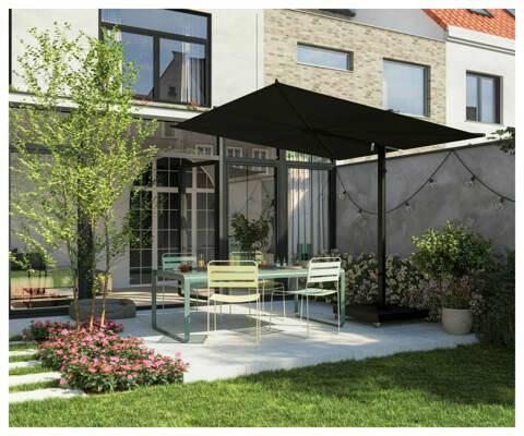 Umbrosa NANO UX Nano ǀ Full black ǀ Sunbrella Marble ǀ 2.5 x 2.5 m | fabric in Sunbrella Black