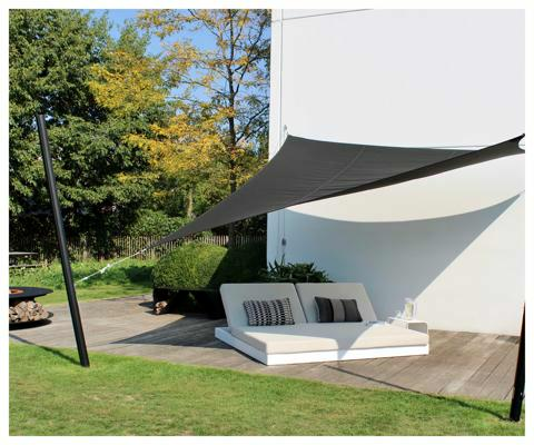 Umbrosa Ingenua vela ombreggiante ǀ Triangolo ǀ 3 x 3 x 3 m ǀ Black