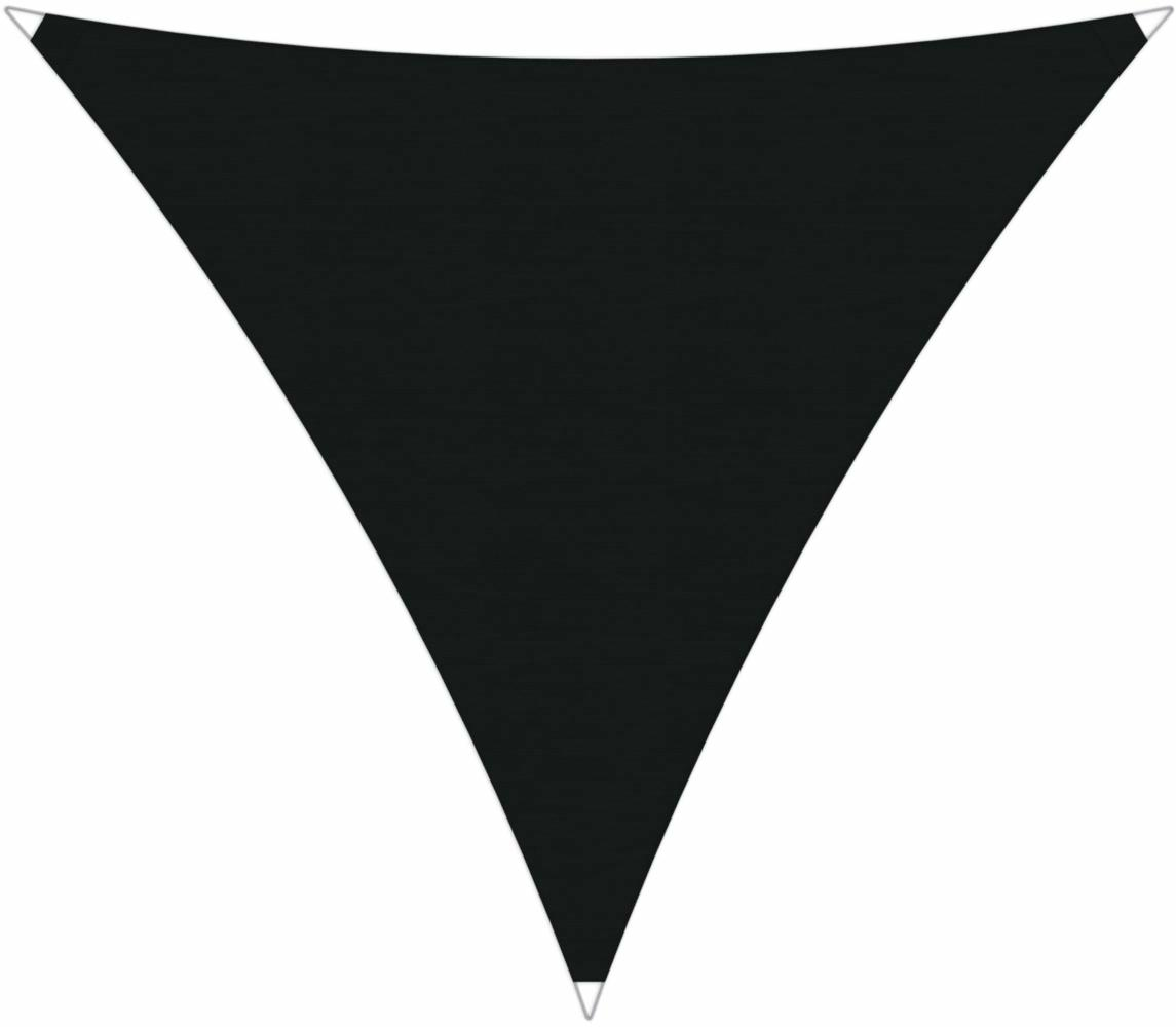 Ingenua shade sail Triangle 5 x 5 x 5 m, for outdoor use. Colour of the fabric shade sail Black.
