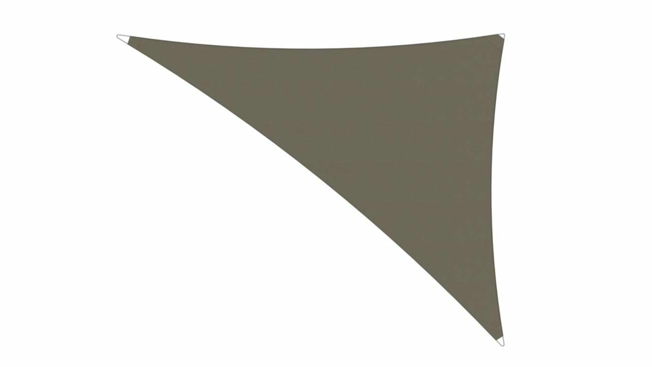 Ingenua shade sail Triangle 4 x 5 x 6,4 m, for outdoor use. Colour of the fabric shade sail Taupe.