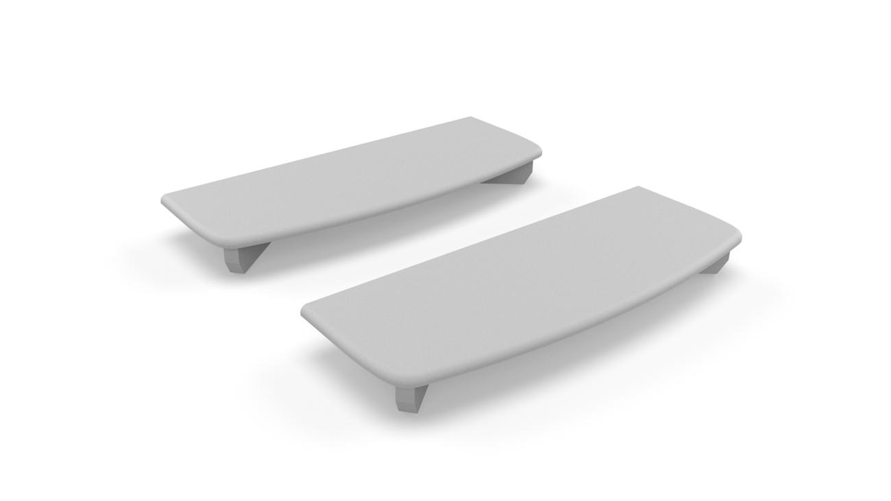Cover plate for wallprofile NEO holder (set of 2 pieces)