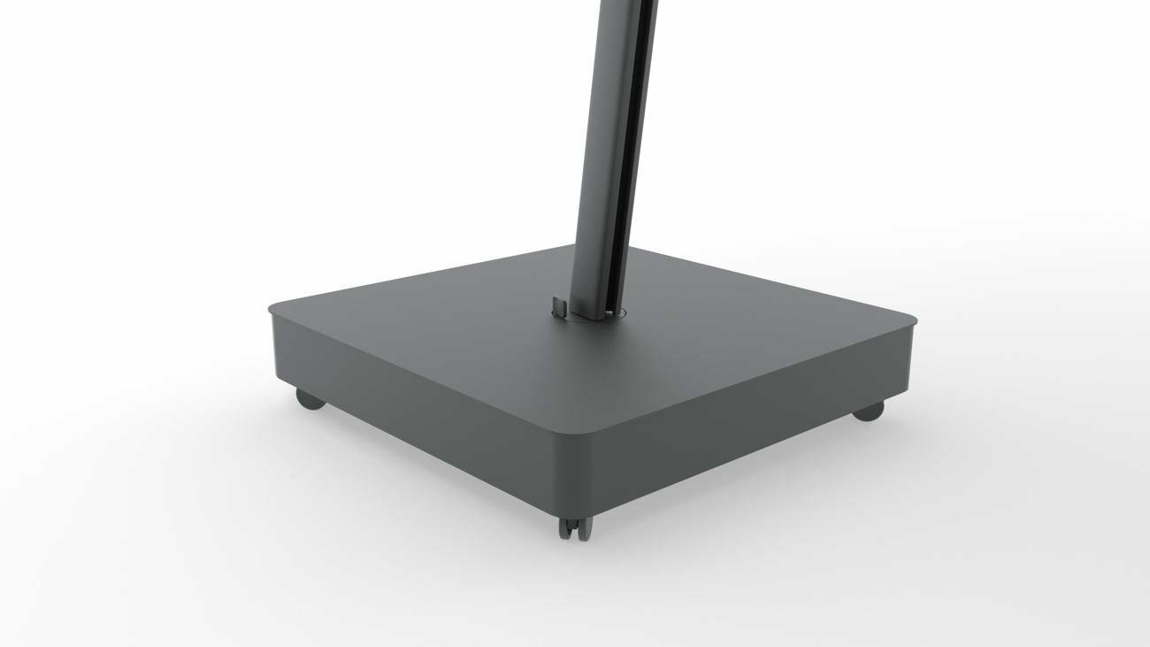 Mobilen Base Architecture Full Black (inkl. Rollen, Fliessen nicht inbegriffen)
