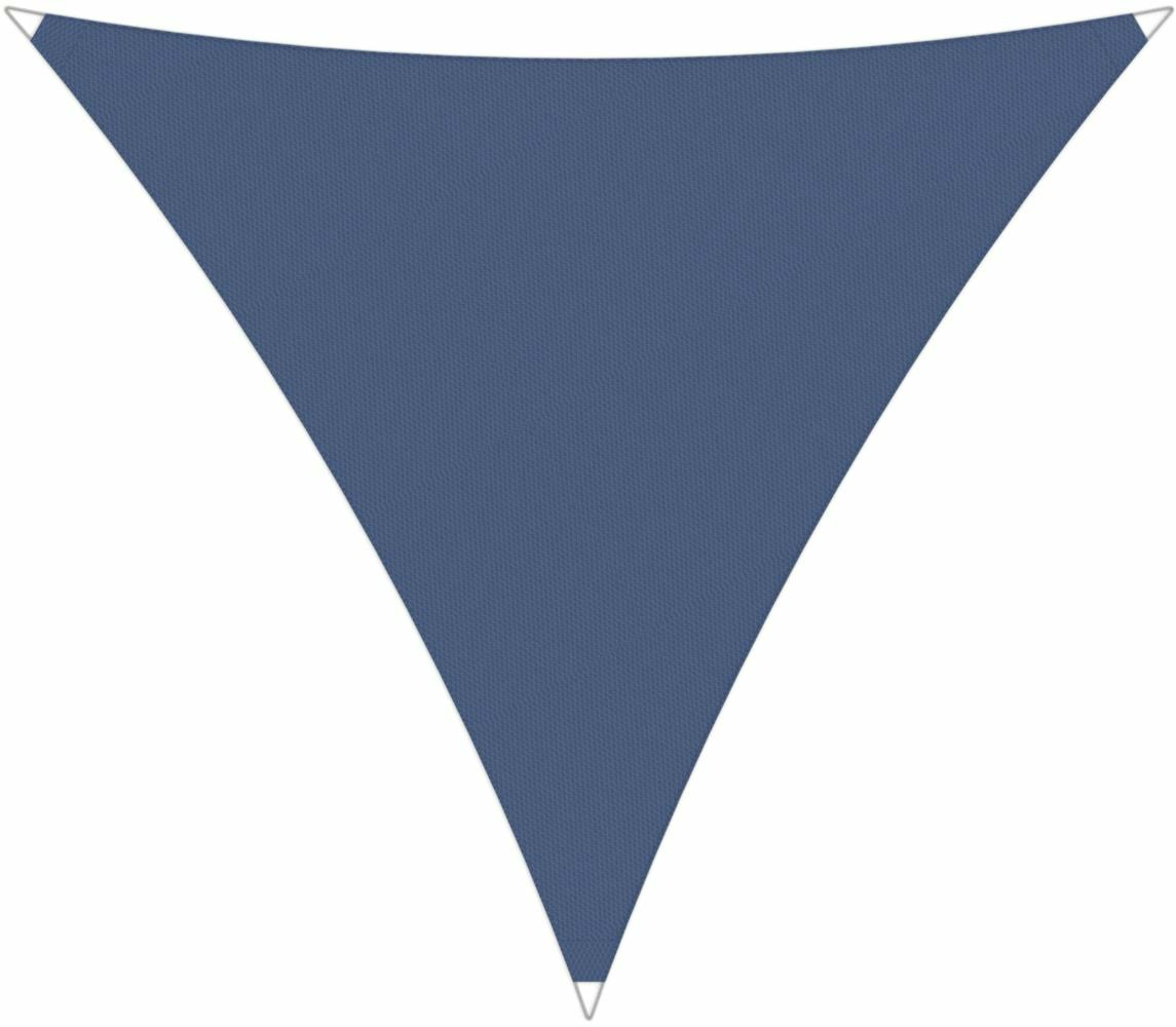 Ingenua shade sail Triangle 5 x 5 x 5 m, for outdoor use. Colour of the fabric shade sail Blue Storm.