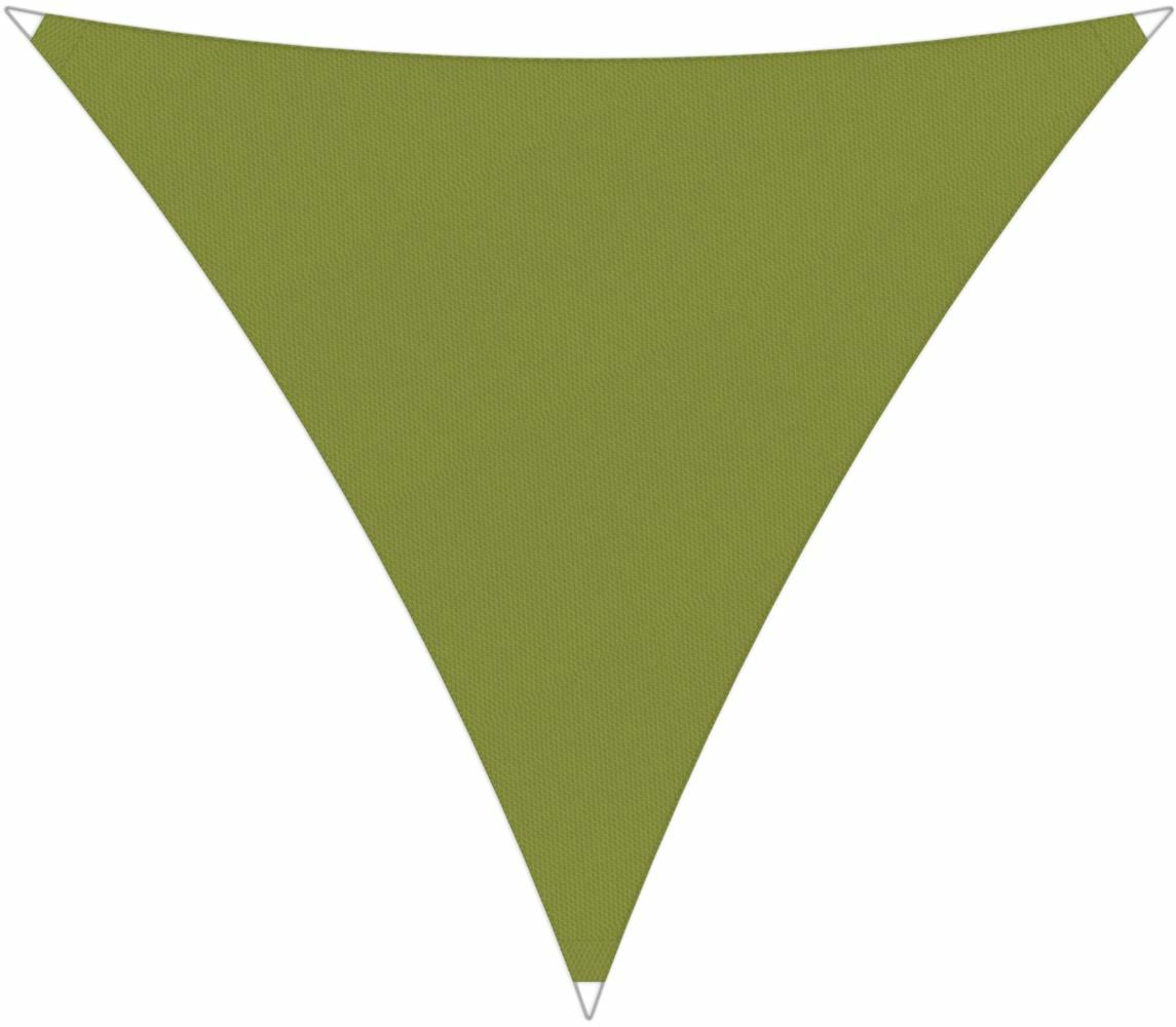 Ingenua shade sail Triangle 5 x 5 x 5 m, for outdoor use. Colour of the fabric shade sail Lichen.