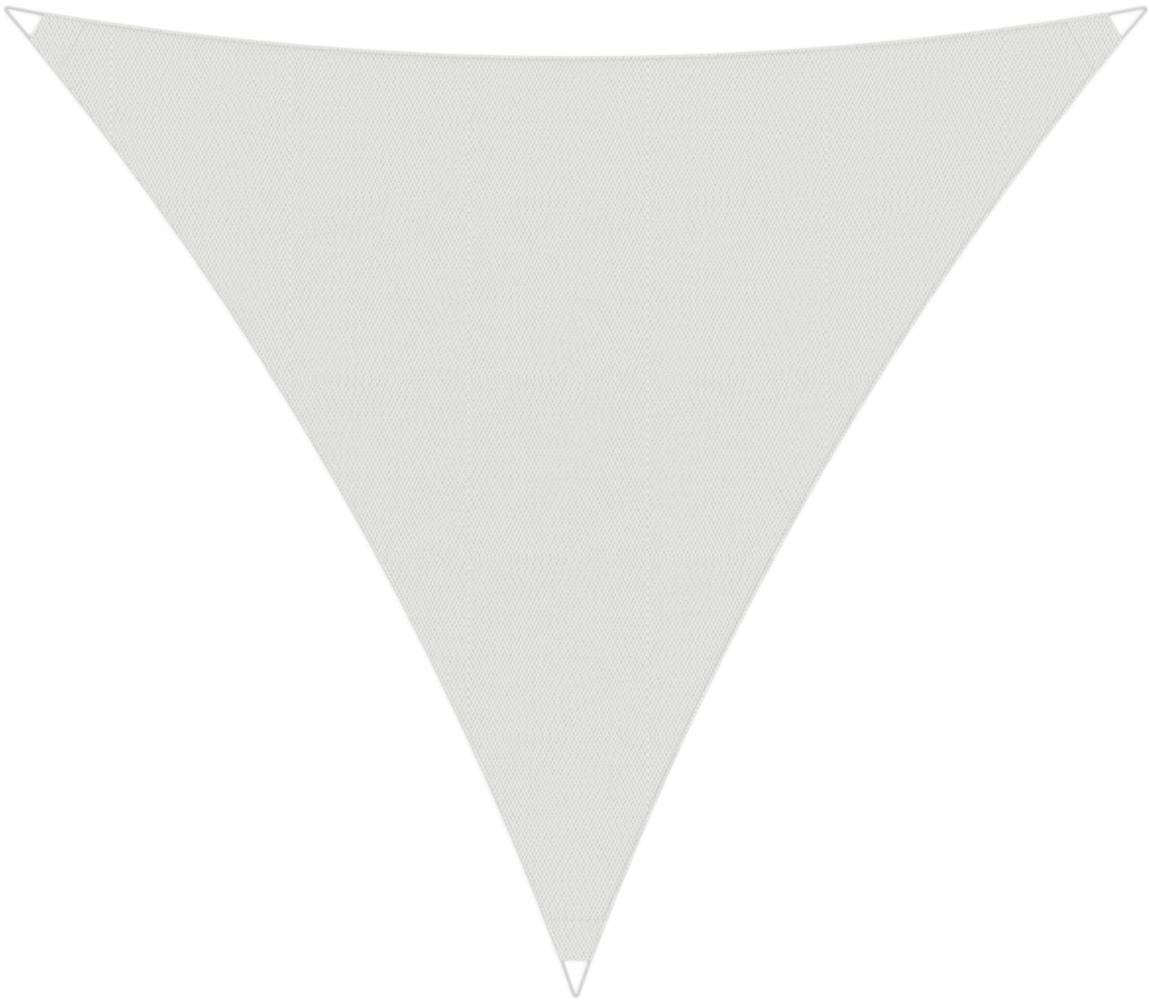 Ingenua shade sail Triangle 4 x 5 x 6,4 m, for outdoor use. Colour of the fabric Solidum Natural.