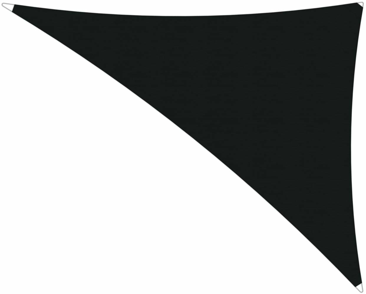 Ingenua shade sail Triangle 4 x 5 x 6,4 m, for outdoor use. Colour of the fabric shade sail Black.