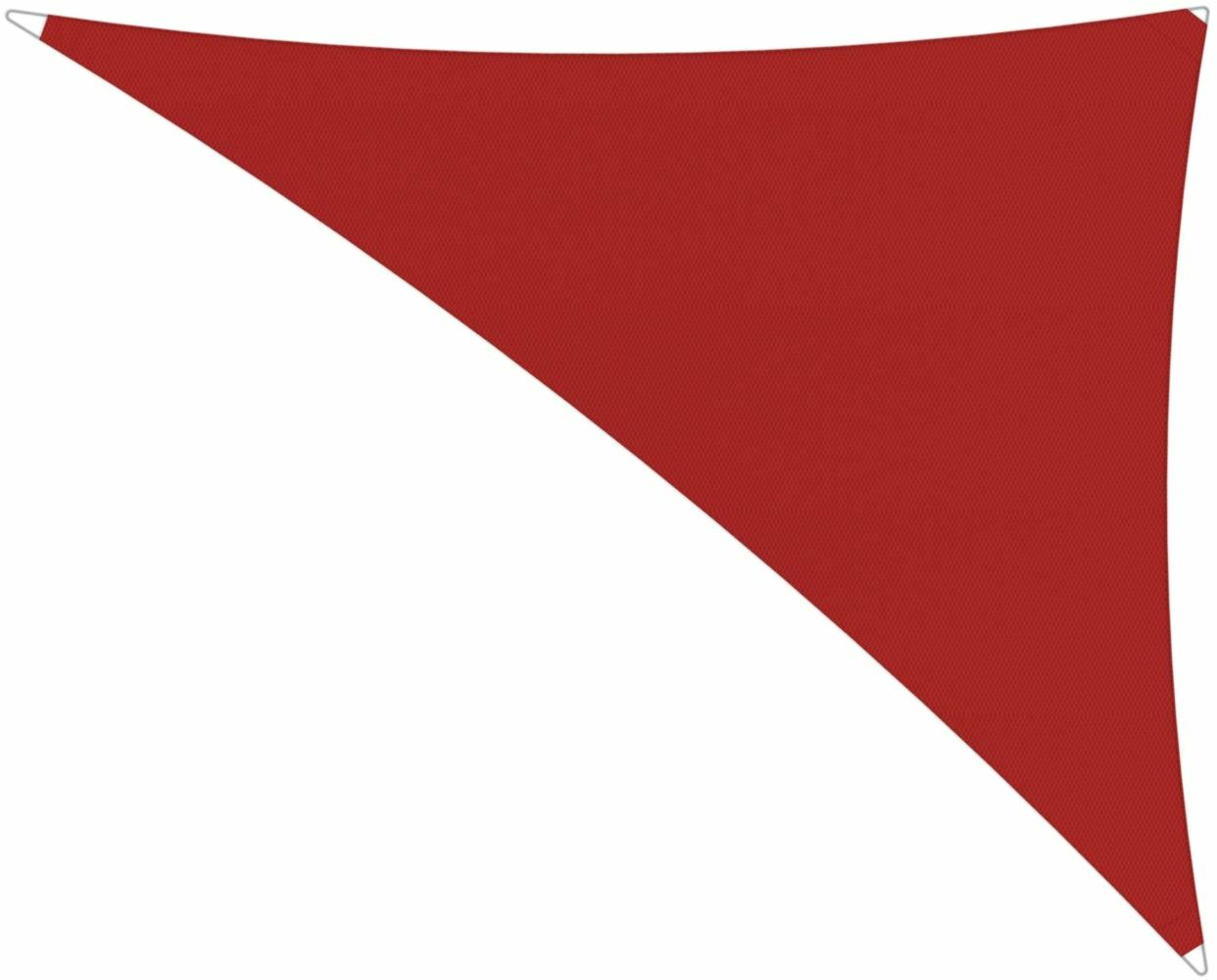 Ingenua shade sail Triangle 4 x 5 x 6,4 m, for outdoor use. Colour of the fabric shade sail Pepper.