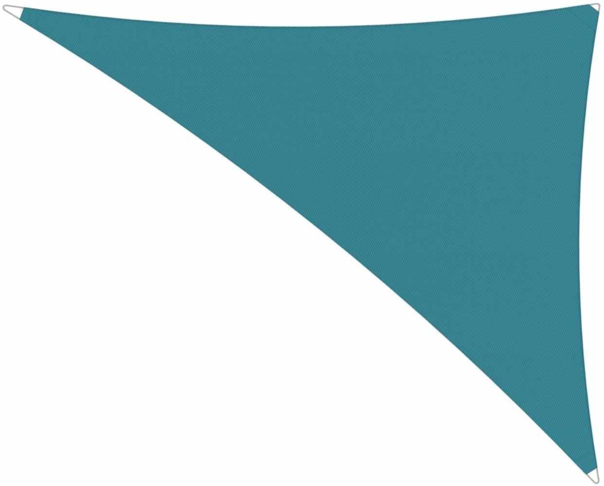 Ingenua shade sail Triangle 4 x 5 x 6,4 m, for outdoor use. Colour of the fabric shade sail Adriatic.