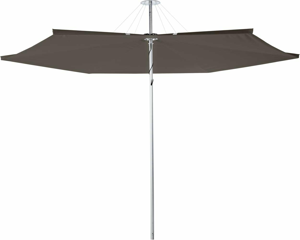 Infina canopy round 3 m in colour Taupe