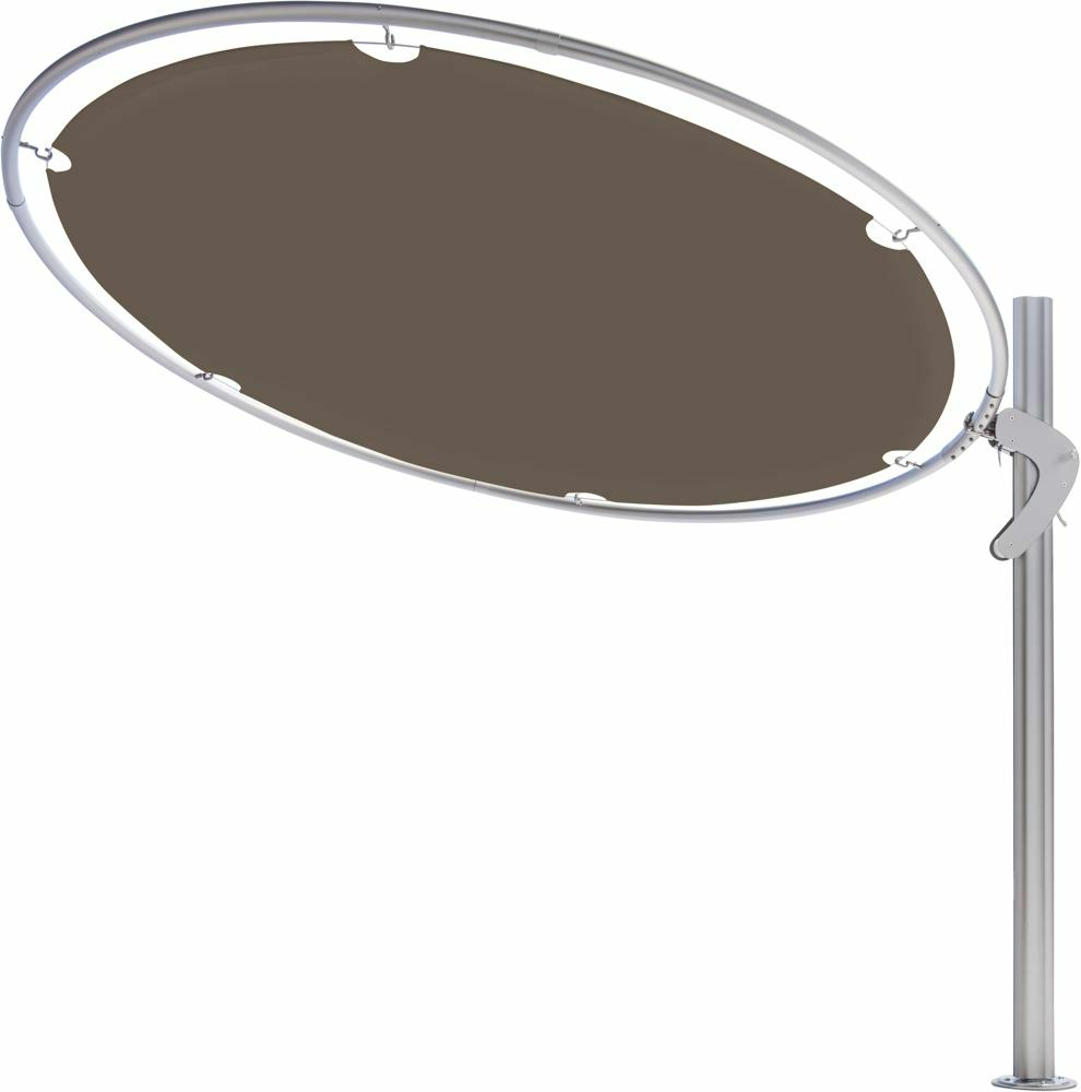 Eclipsum canopy round 3m in colour Taupe