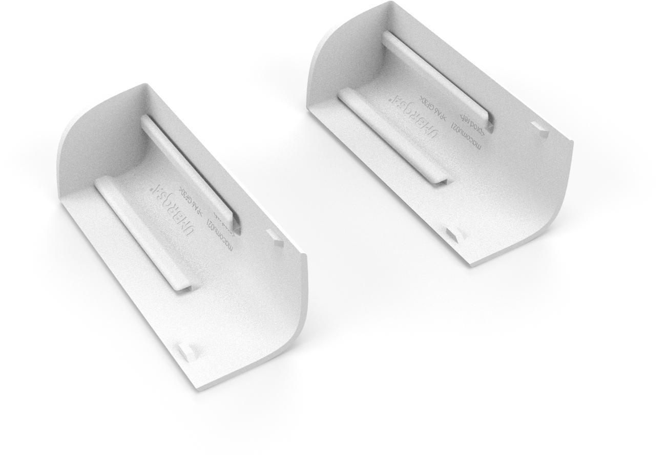 Set von 2 Winkelstücke für Deckel Fliessenfuss WEISS