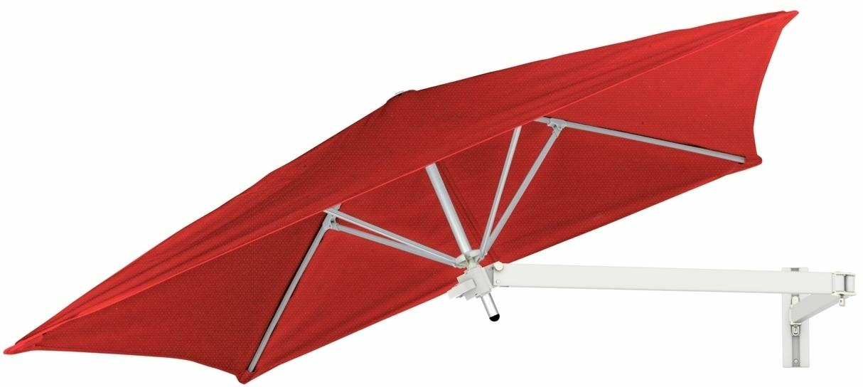 Paraflex wall mounted parasols square 1,9 m with Pepper fabric and a Neo arm