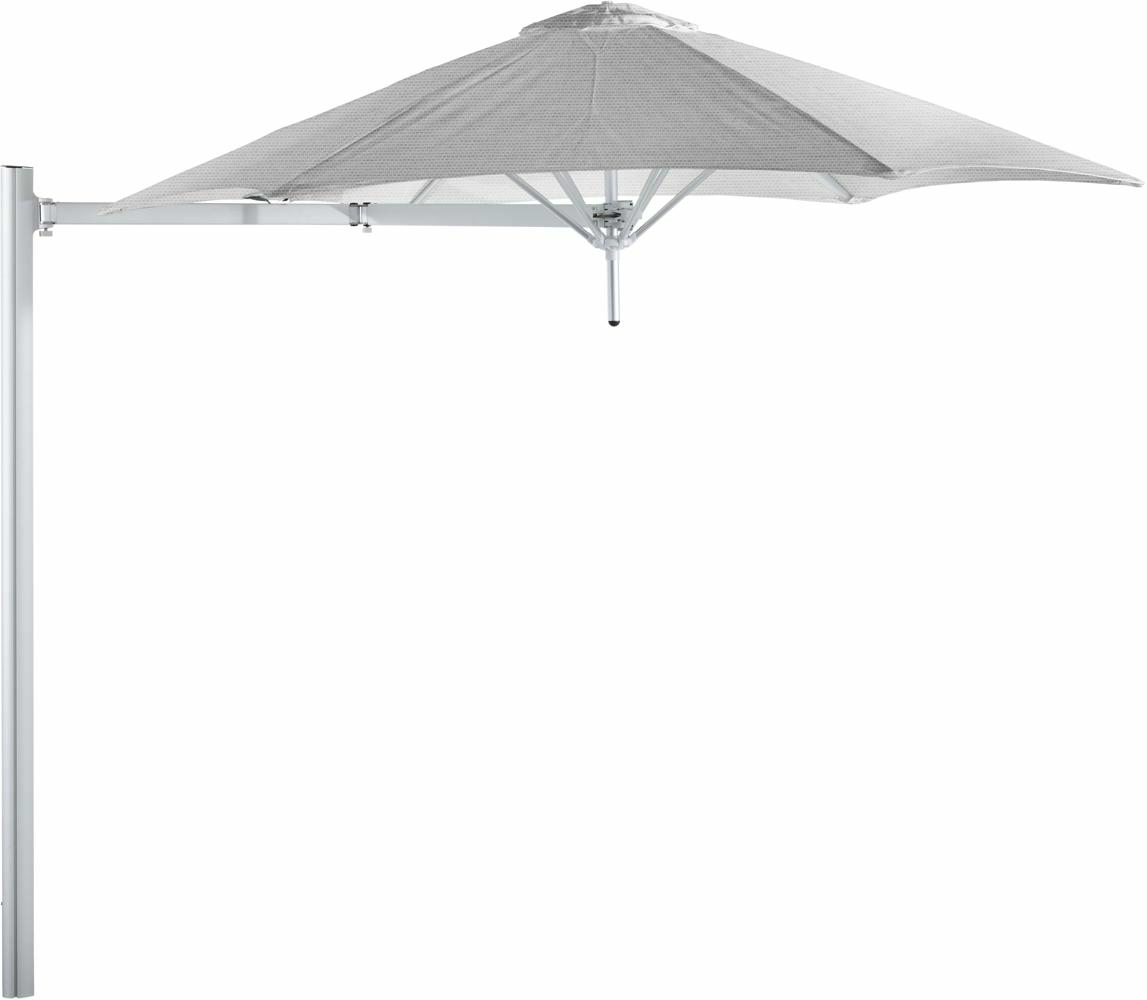Paraflex cantilever umbrella round 2,7 m with Marble fabric and a Neo arm