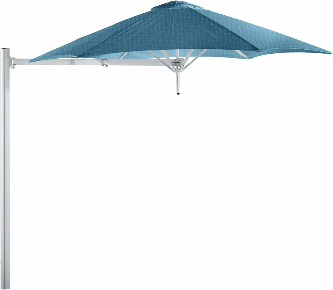Paraflex cantilever umbrella round 2,7 m with Adriatic fabric and a Neo arm