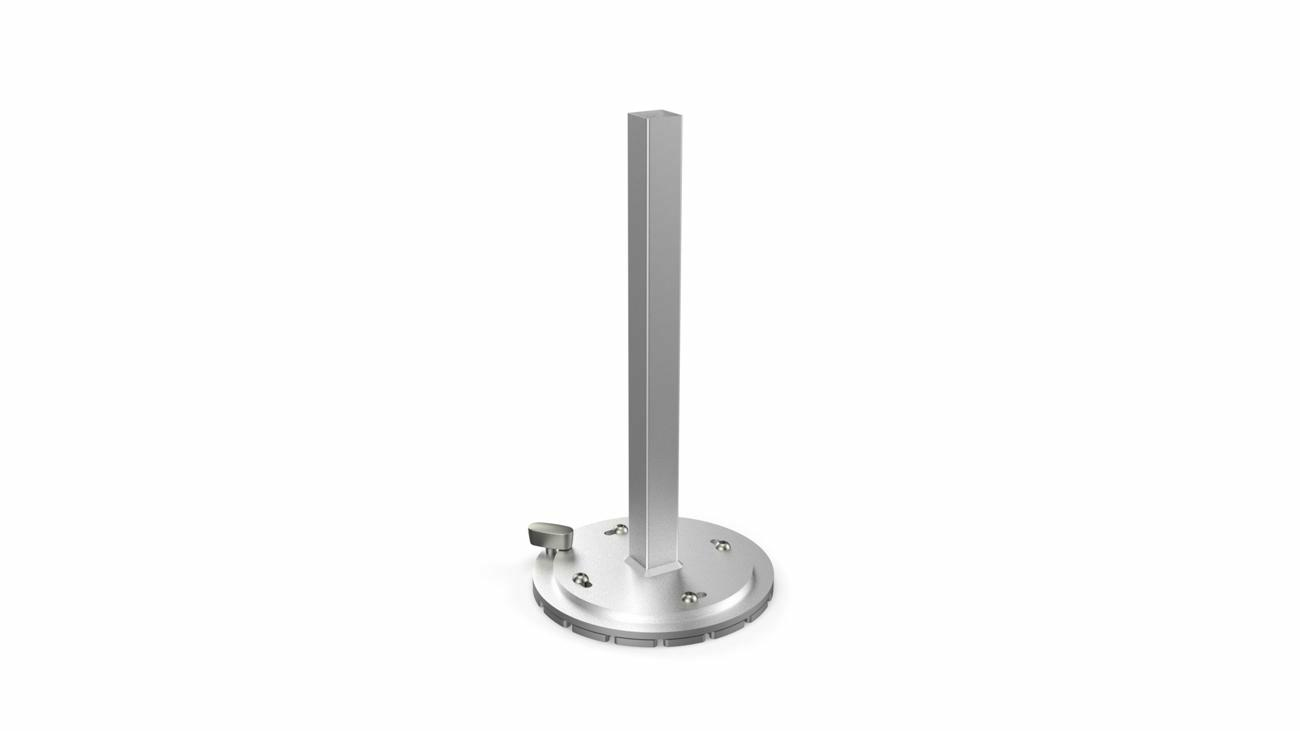 Rotation support for direct mounting 90°