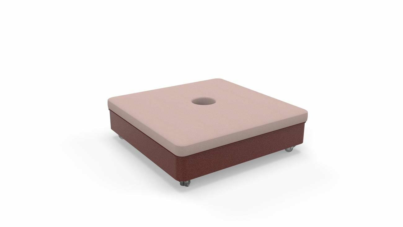 Base mobile Culture (mattonelle non incluse, cuscino e 4 ruote inclusi)