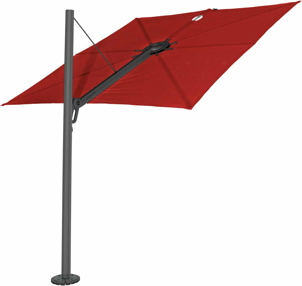 Spectra cantilever umbrella, 2,5 x 2,5 m square, Dusk (15 cm) frame, Pepperl fabric