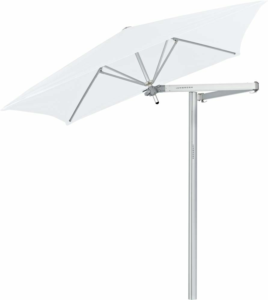 Paraflex cantilever umbrella square 1,9 m with Natural fabric and a Classic arm