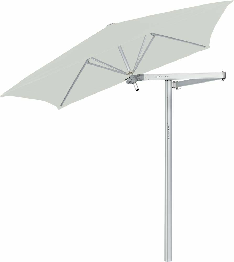 Paraflex cantilever umbrella square 1,9 m with Canvas fabric and a Classic arm
