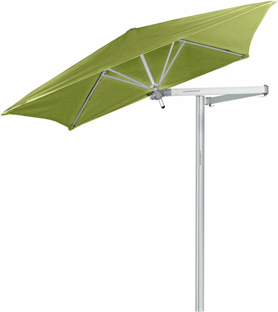 Paraflex cantilever umbrella square 1,9 m with Lichen fabric and a Classic arm