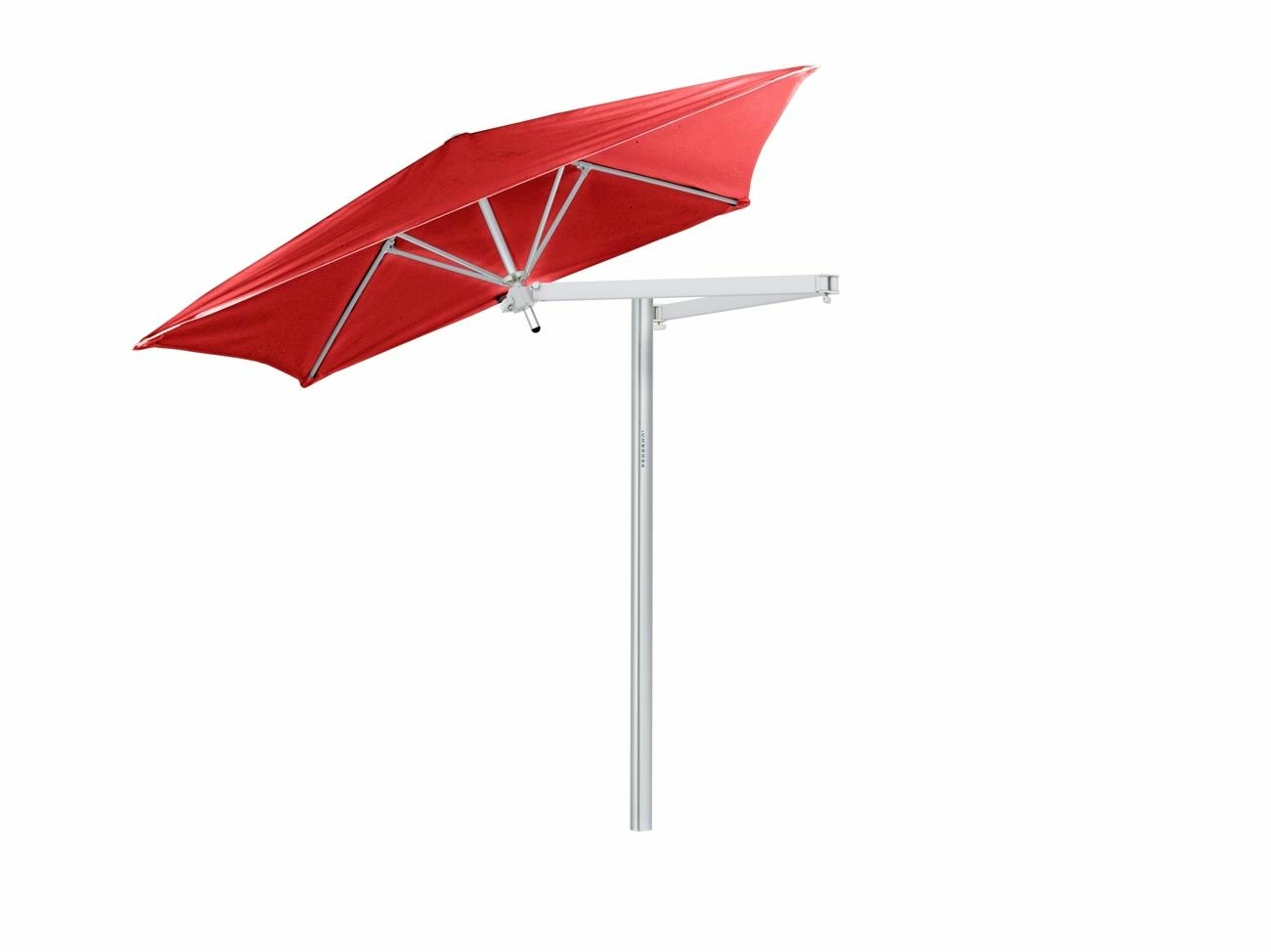 Paraflex cantilever umbrella square 1,9 m with Pepper fabric and a Neo arm