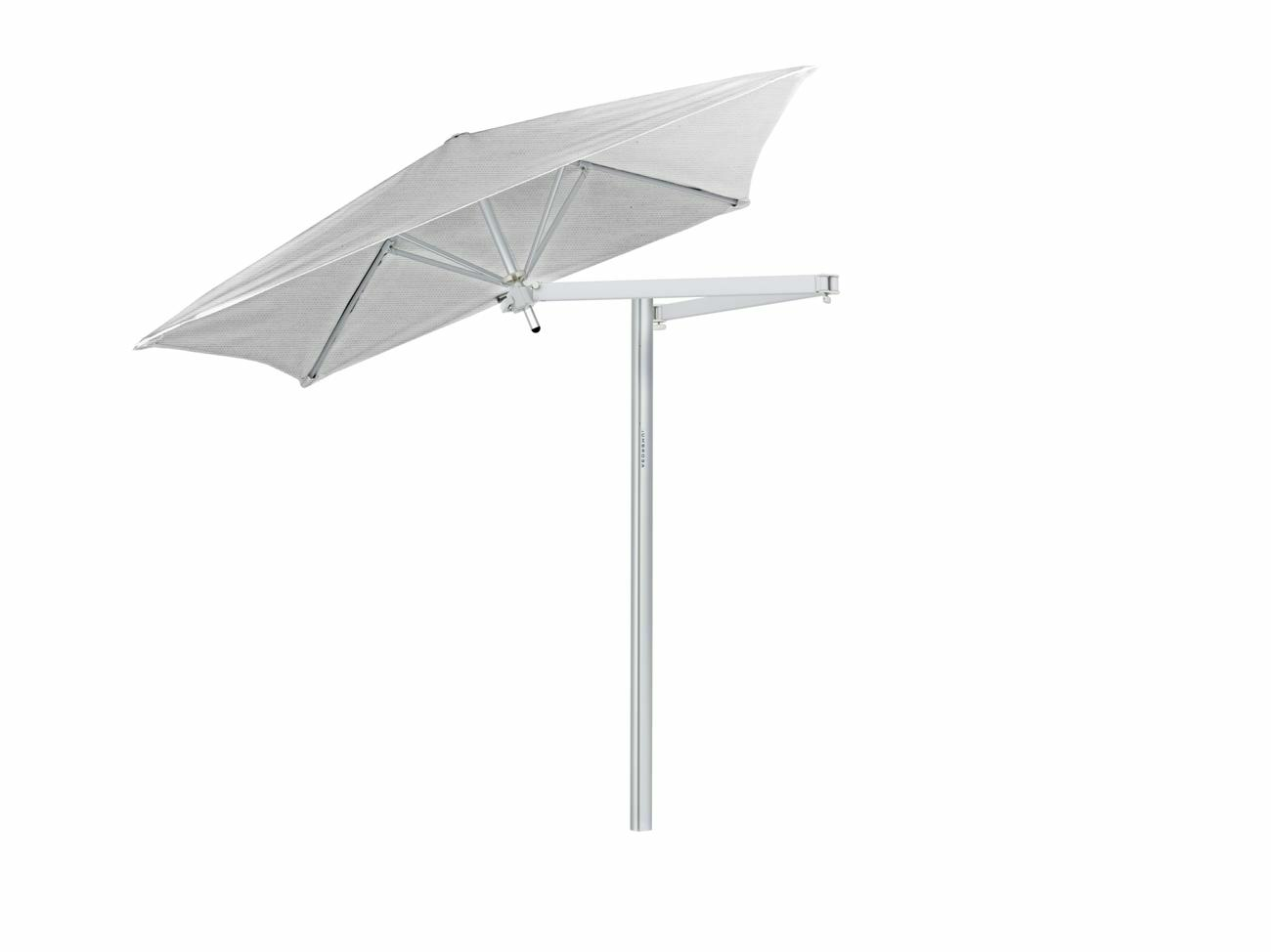Paraflex cantilever umbrella square 1,9 m with Marble fabric and a Neo arm