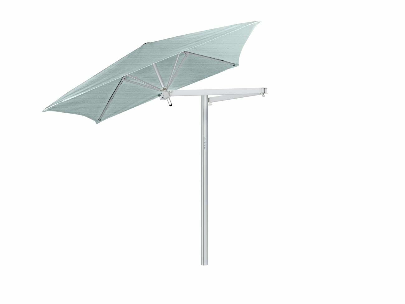 Paraflex cantilever umbrella square 1,9 m with Curacao fabric and a Neo arm