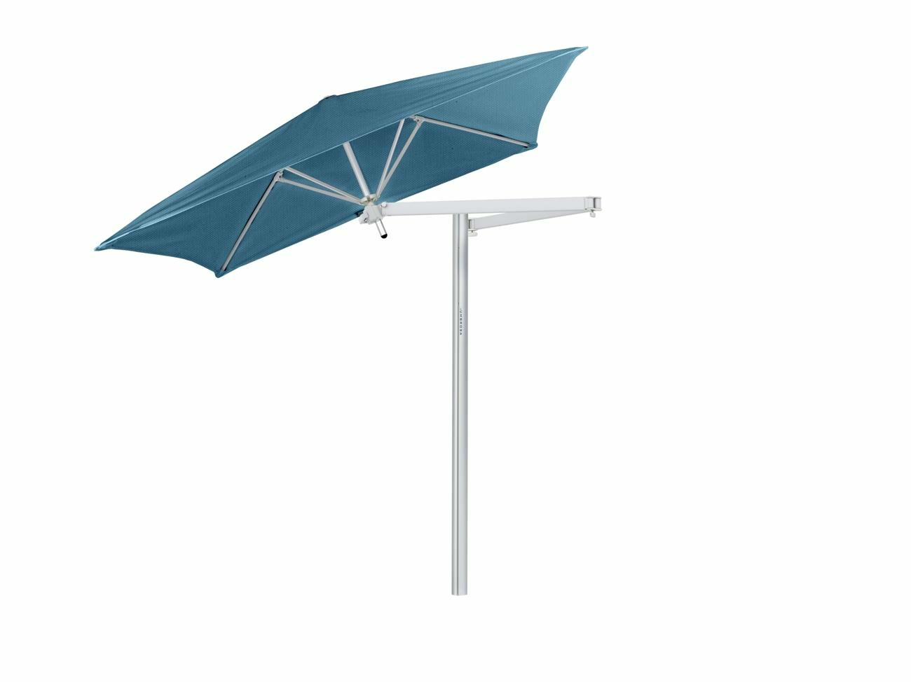 Paraflex cantilever umbrella square 1,9 m with Adriatic fabric and a Neo arm