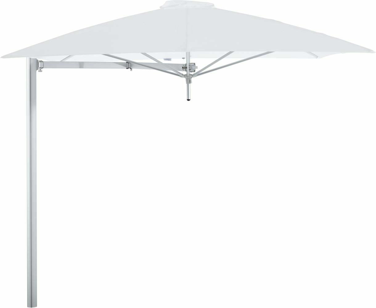 Paraflex cantilever umbrella square 2,3 m with Natural fabric and a Neo arm