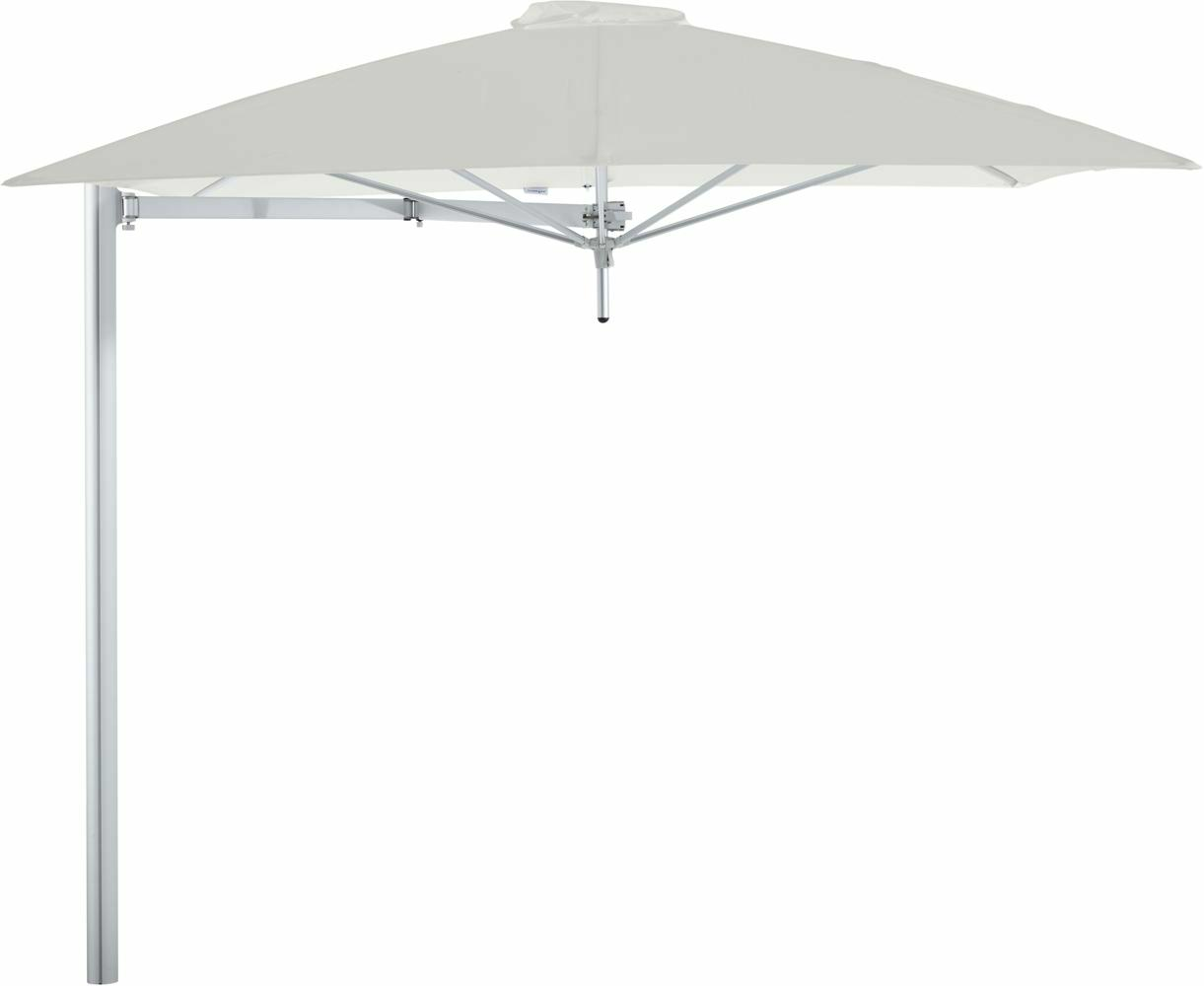 Paraflex cantilever umbrella square 2,3 m with Canvas fabric and a Neo arm