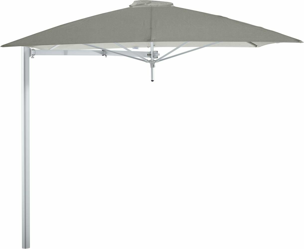 Paraflex cantilever umbrella square 2,3 m with Grey fabric and a Neo arm