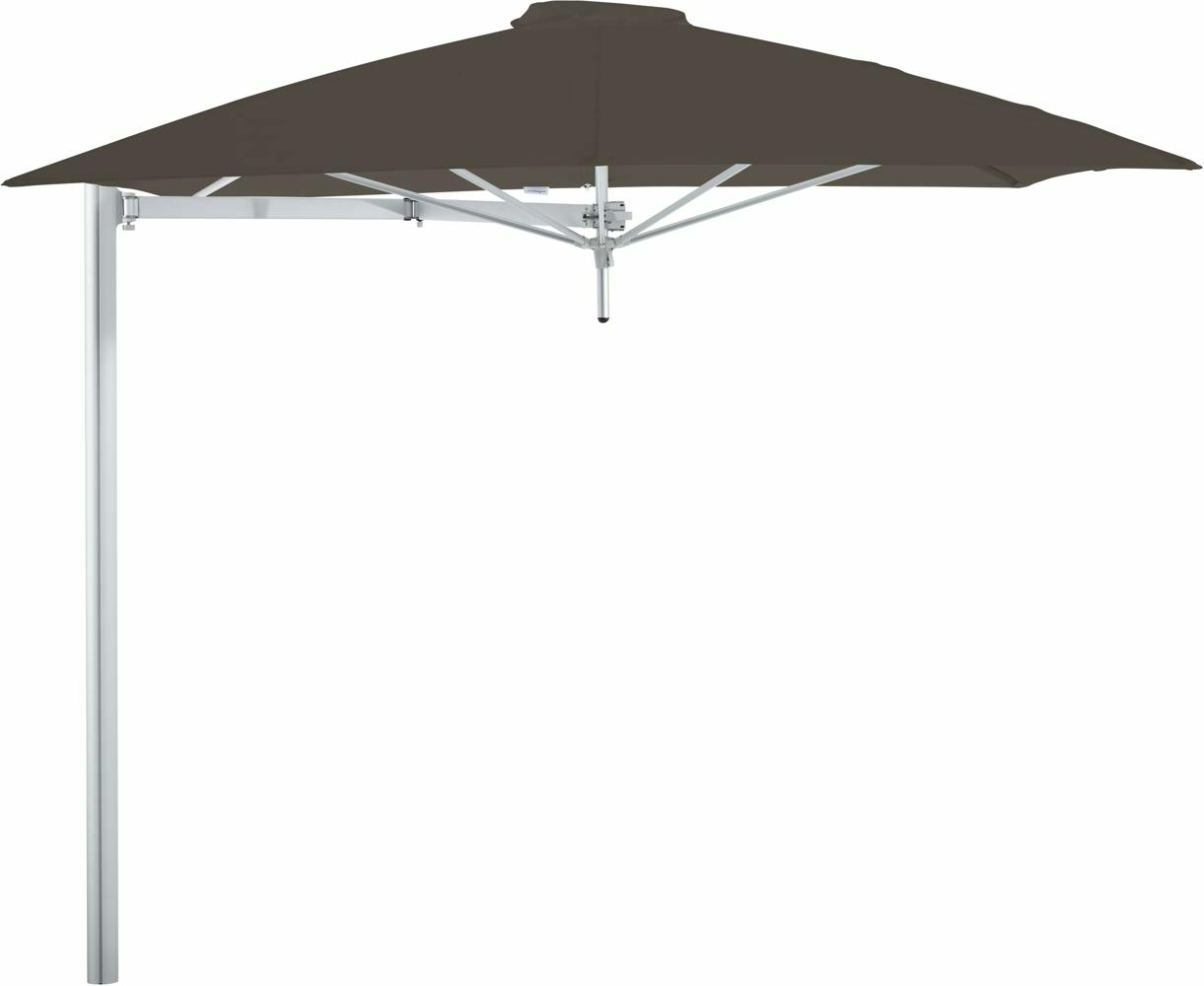 Paraflex cantilever umbrella square 2,3 m with Taupe fabric and a Neo arm