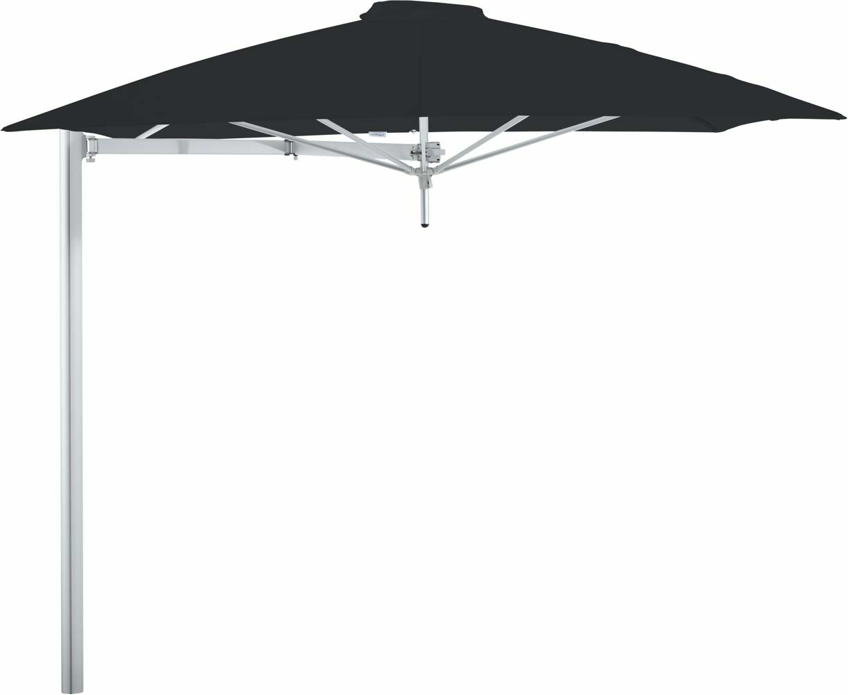 Paraflex cantilever umbrella square 2,3 m with Black fabric and a Neo arm
