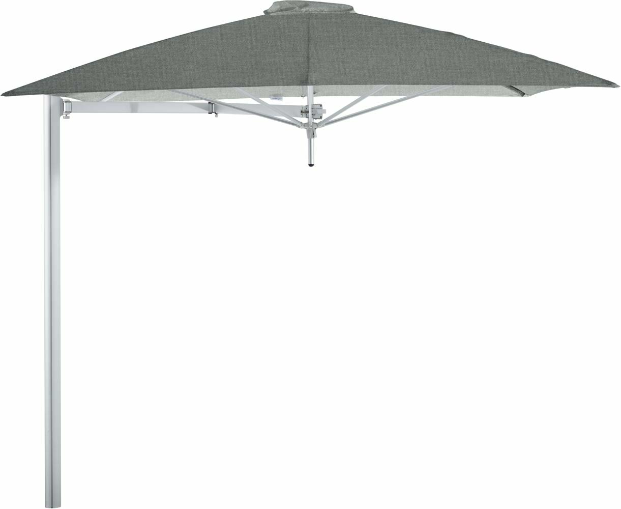 Paraflex cantilever umbrella square 2,3 m with Flanelle fabric and a Neo arm