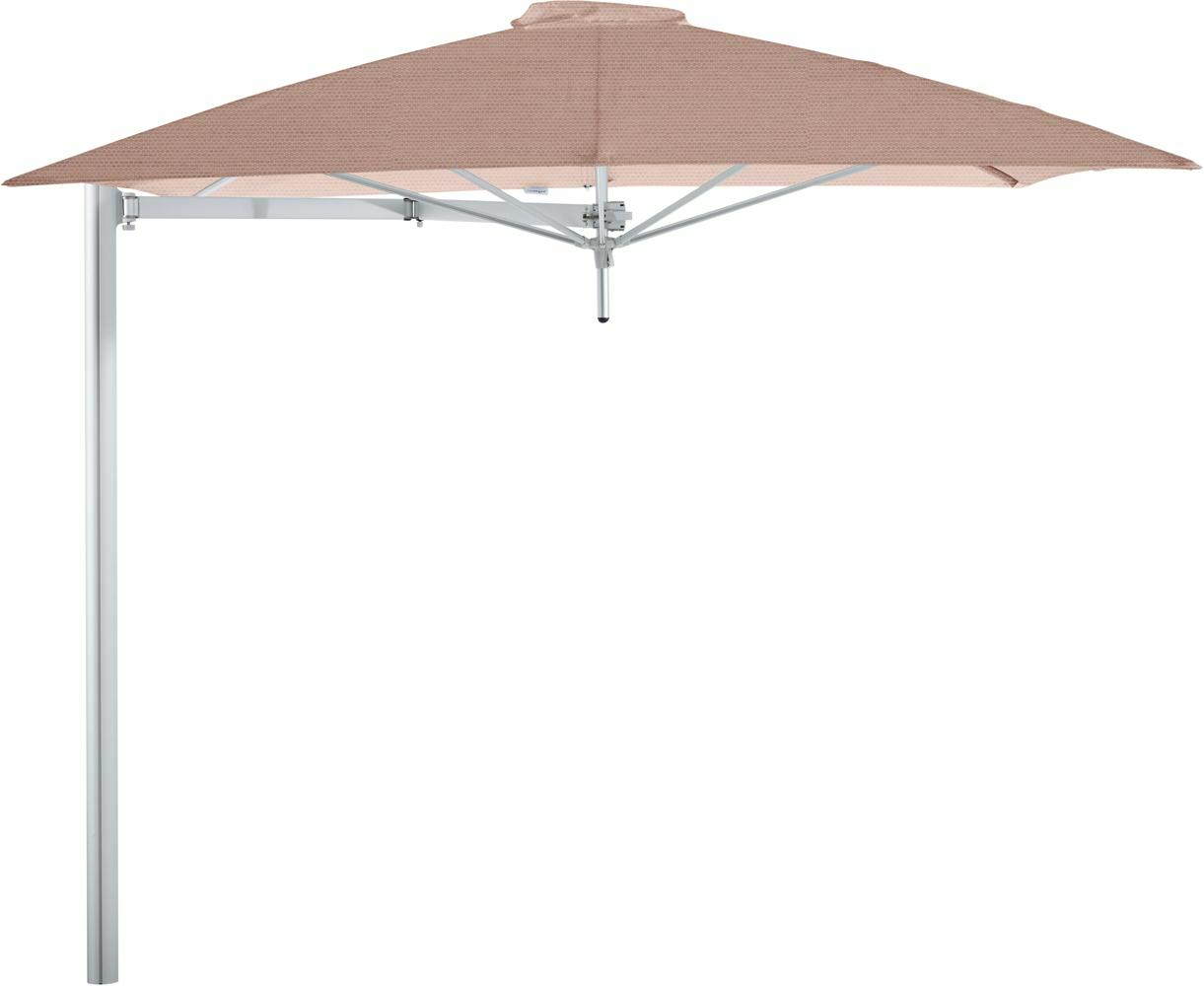 Paraflex cantilever umbrella square 2,3 m with Blush fabric and a Neo arm