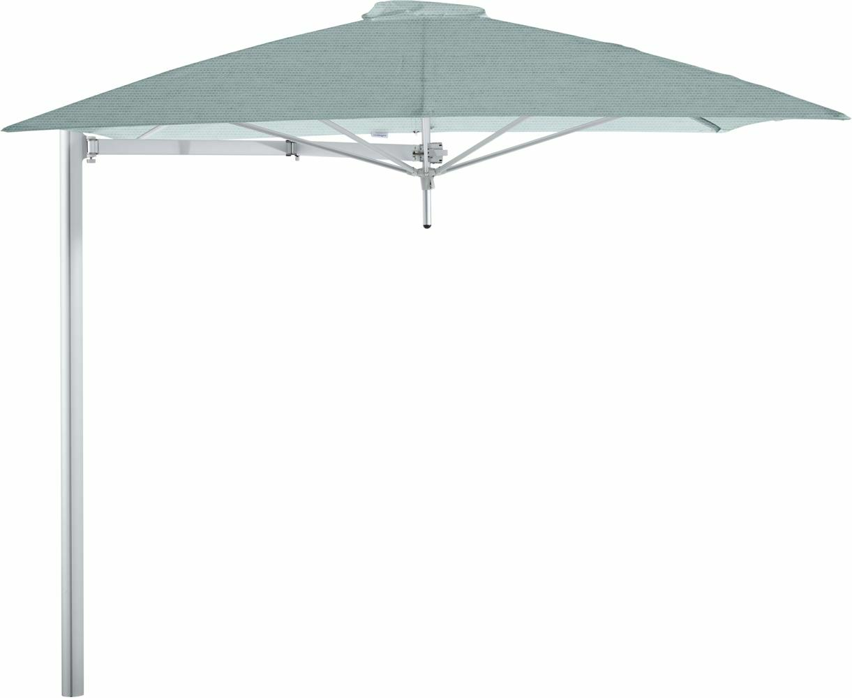 Paraflex cantilever umbrella square 2,3 m with Curacao fabric and a Neo arm