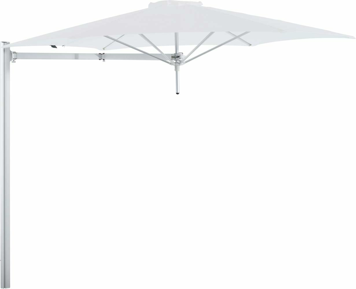 Paraflex cantilever umbrella round 3 m with Natural fabric and a Neo arm