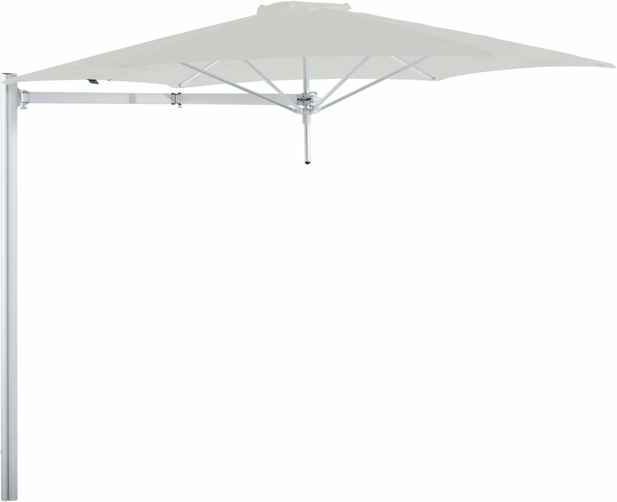 Paraflex cantilever umbrella round 3 m with Canvas fabric and a Neo arm
