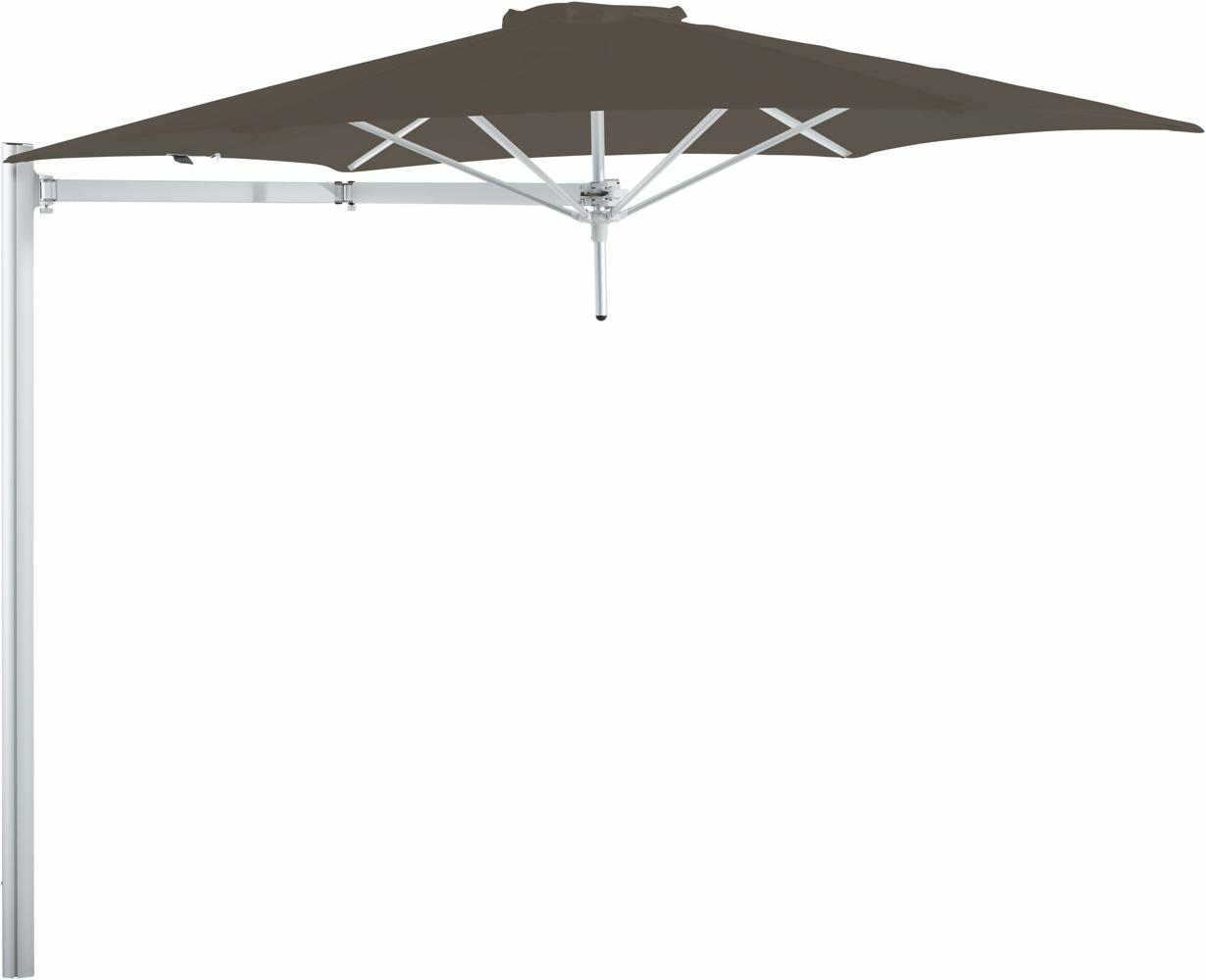Paraflex cantilever umbrella round 3 m with Taupe fabric and a Neo arm