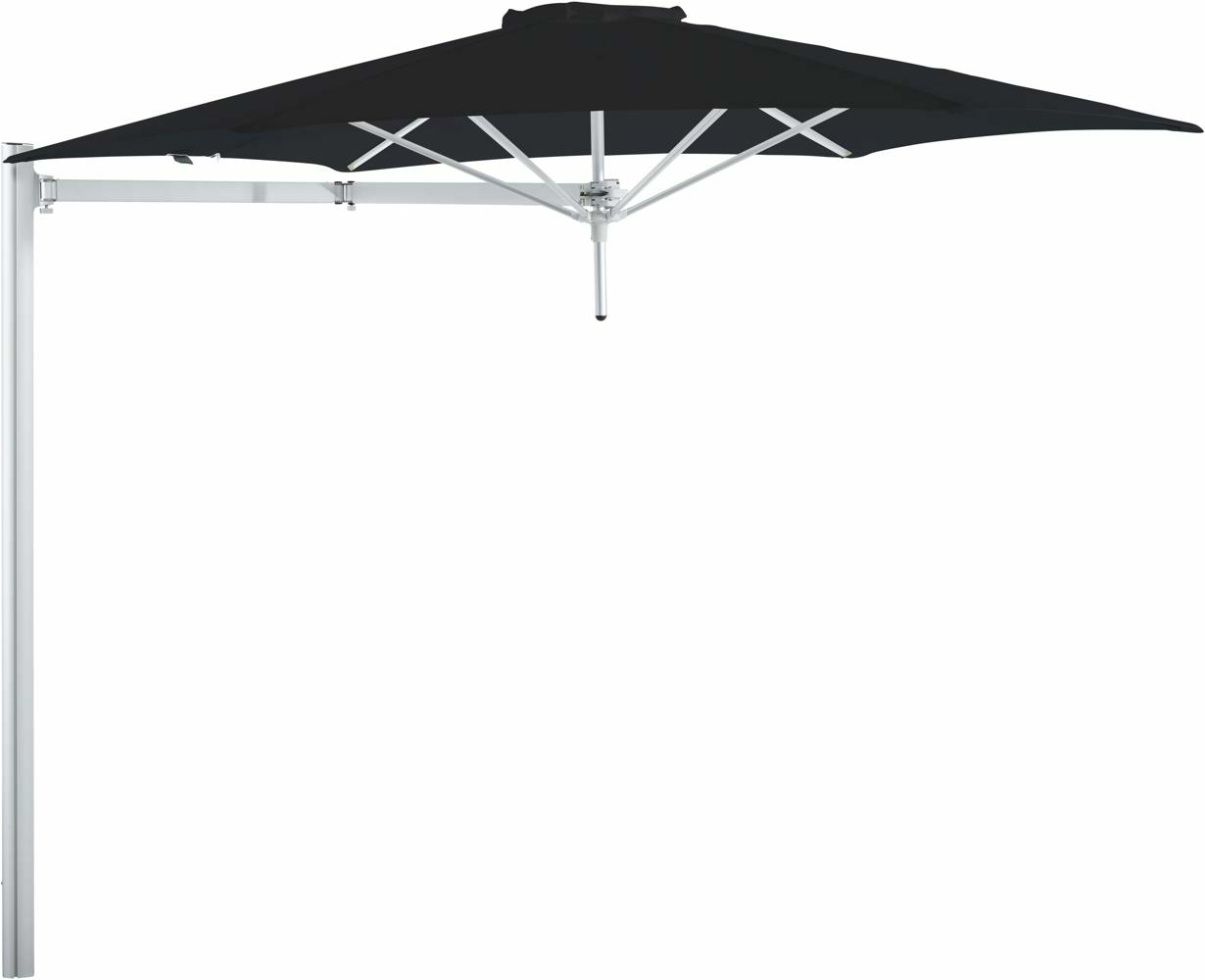 Paraflex cantilever umbrella round 3 m with Black fabric and a Neo arm