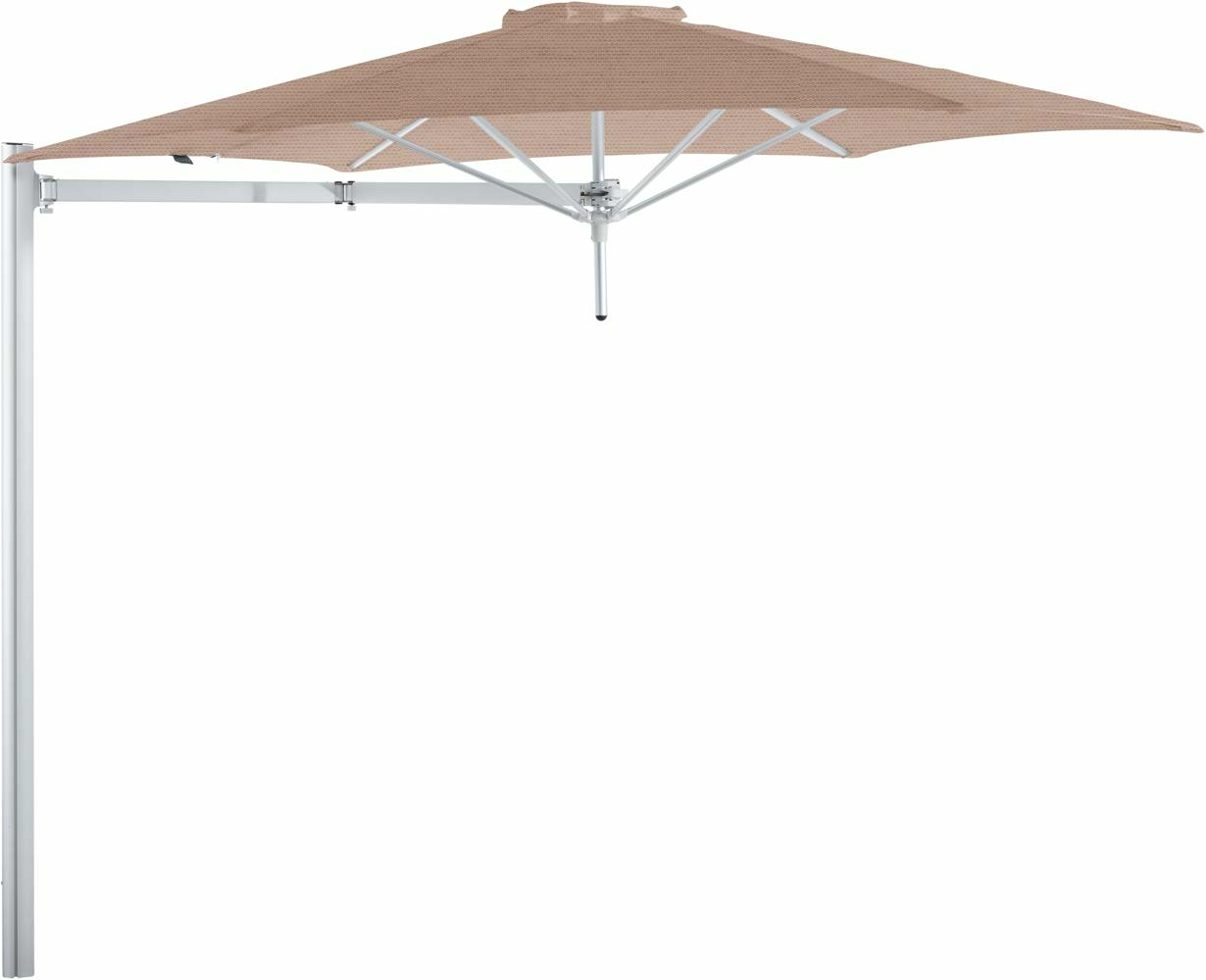 Paraflex cantilever umbrella round 3 m with Blush fabric and a Neo arm