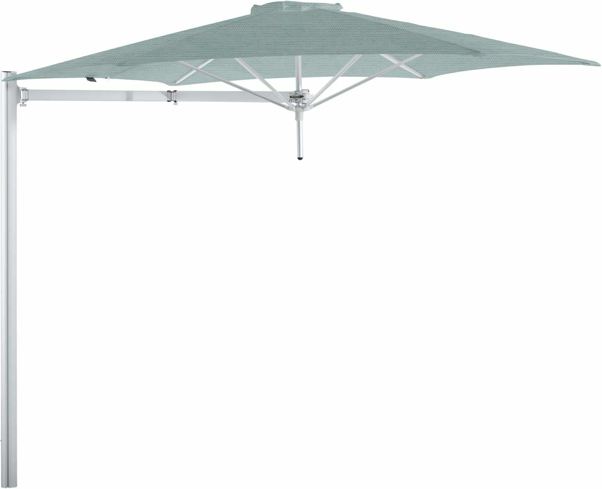 Paraflex cantilever umbrella round 3 m with Curacao fabric and a Neo arm